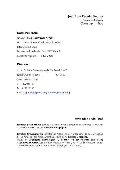 Modelo De Curriculum Vitae Experiencia Ni Estudios curriculum 2012 2 0
