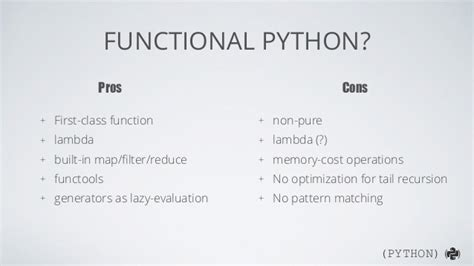 functional pattern matching in python functional programming in python
