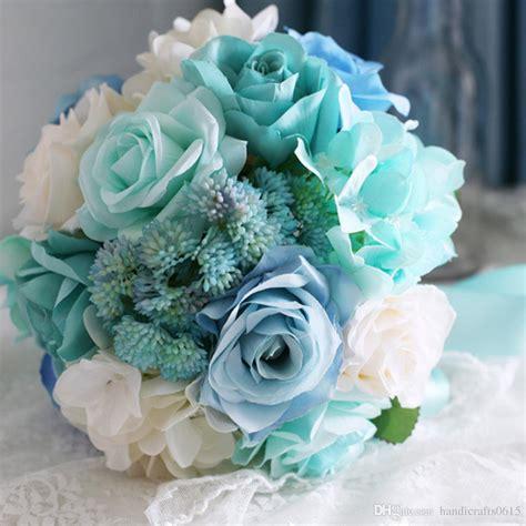 purple green and blue lights ramo de novia 2016 baby blue light mint green bridal