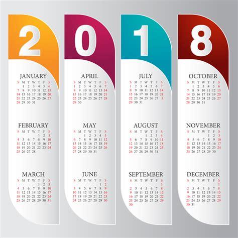 Vector Calendar 2018 Vertical Calendar 2018 Card Vector Vector Calendar