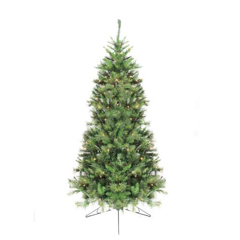 7 5 pre lit canyon pine artificial half wall christmas