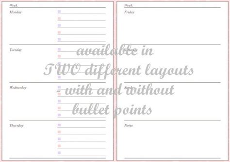 a5 filofax printable inserts pastel owls includes week on a5 filofax printable inserts pastel owls includes week