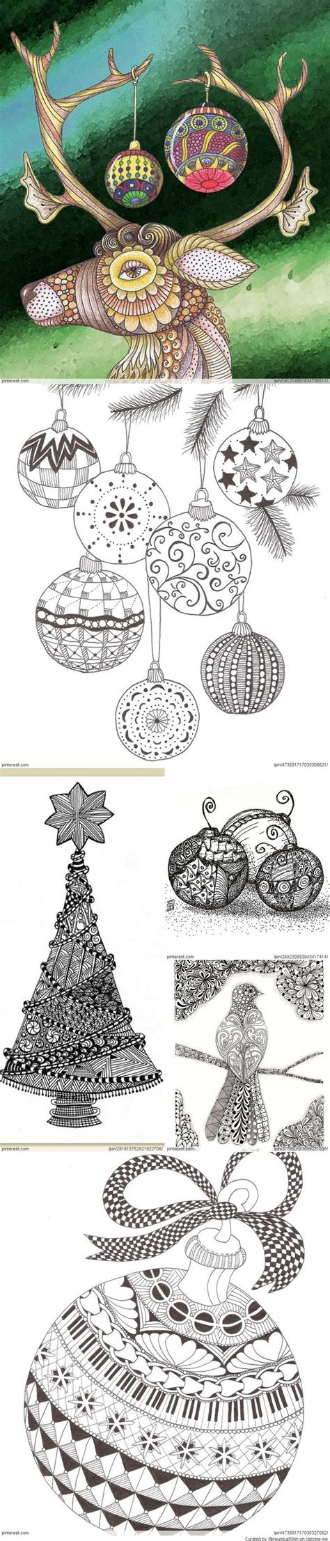 christmas zentangle pattern 17 best images about christmas tangles on pinterest