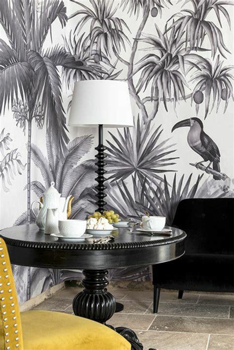 Tapisserie Noir Blanc by 1001 Mod 232 Les De Papier Peint Tropical Et Exotique