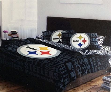 steelers bedroom set pittsburgh steelers sheet sets price compare