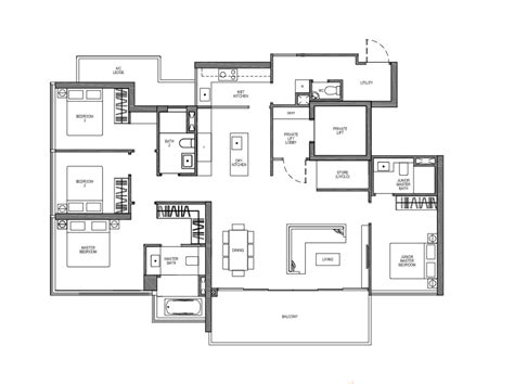 lift floor plan seaside residences condo by fcl temasekhome