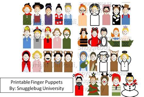 printable christmas paper finger puppets printable finger puppets pattern by snugglebug university