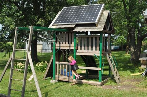 swing set playhouse solar swing set pv playhouse 8