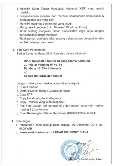 format surat lamaran kerja kesehatan contoh surat lamaran pekerjaan bpjs kesehatan kotasurat com
