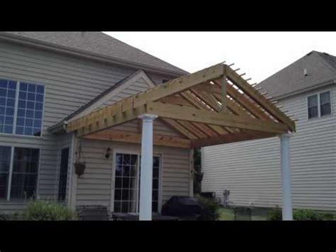 how to build a gable roof pergola gable style pergola with rafters by archadeck