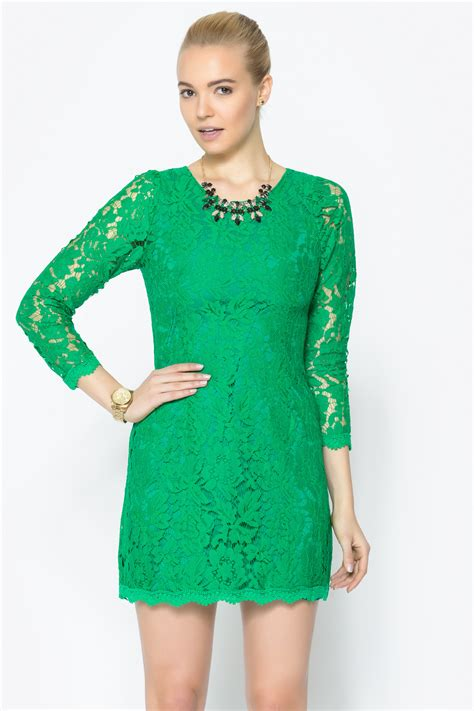 Bj 8586 Green Fresh Dress pinkyotto green antique lace dress from nolita shoptiques