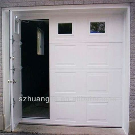 Small Overhead Doors White Color Sandwich Panel Garage Door With Small Door View Garage Door With Small Door