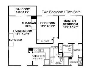two bedroom two bath floor plans 2 bedroom 2 bath sleeps 8 fort lauderdale