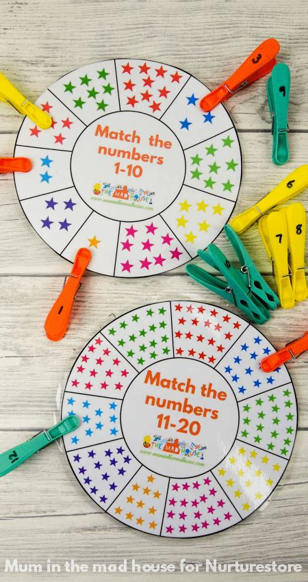 pattern recognition project ideas free printable number wheel for number bonds activities