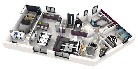 Plan Maison Moderne 3 Chambres by Plan De Maison Moderne 4 Chambres 3d Qq89 Jornalagora