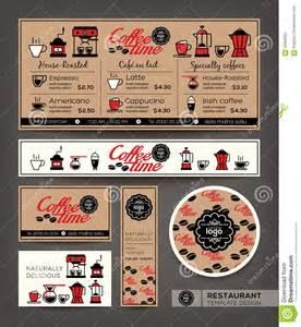 coffee shop cafe set menu design template stock vector