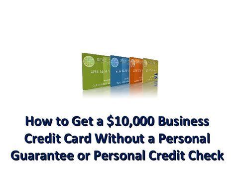 Business Credit Cards With No Credit
