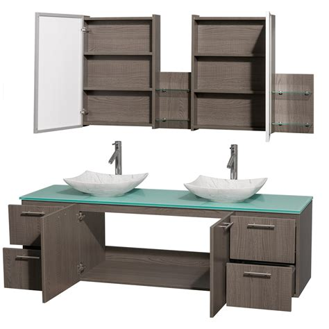 72 Inch Sink Bathroom Vanity by Amare 72 Inch Bathroom Vanity In Gray Oak