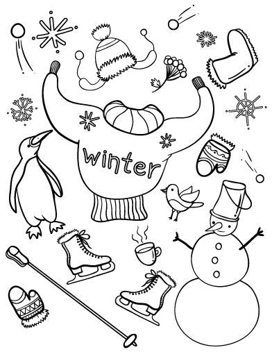 winter coloring pages pdf printable winter coloring page free pdf download at http