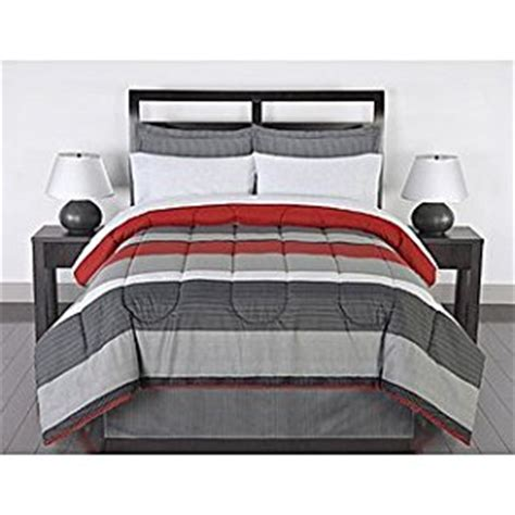 red black and grey bedding amazon com black gray red stripes boys teen full