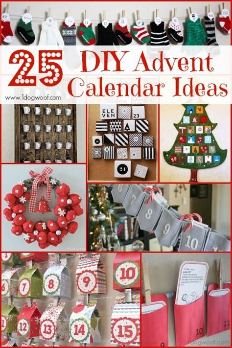 Handmade Advent Calendar Ideas - 25 diy advent calendar ideas roundup advent