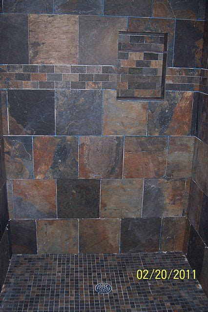 slate tile in the shower bathrooms forum gardenweb bathroom remodel ideas bathroom