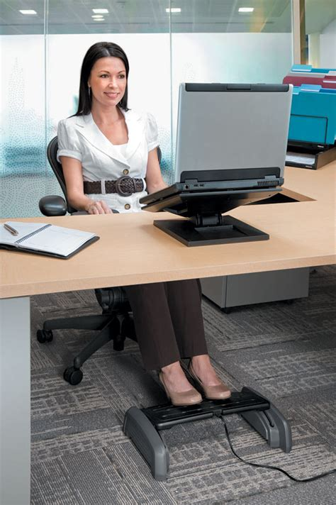 elevate leg at desk amazon com fellowes heat and slide footrest black grey