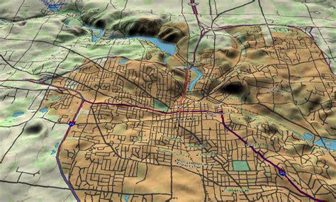 map arbor 3d topo map arbor michigan annarbor arbor