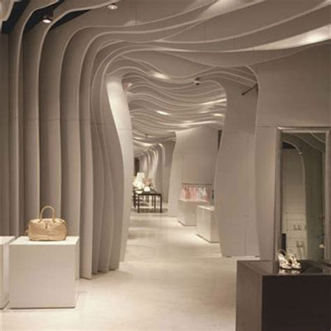 wavy architectural design ceilings walls furniture