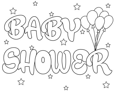 baby shower coloring pages free printable baby shower coloring pages