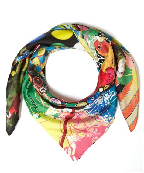 christian lacroix assorted bird silk scarf lyst