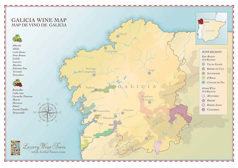 galicia regional map 571 galicia wine region map 187 cellartours