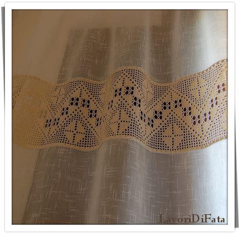 tende con applicazioni all uncinetto lavoridifata tende tessuto e uncinetto part1