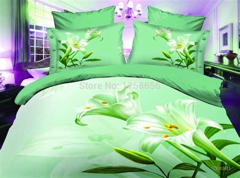 cotton polyester comforter 3d bedding set polyester cotton materials queen size