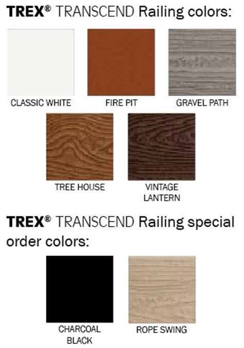 trex transcend colors trex transcend railing fl mi weekes forest products