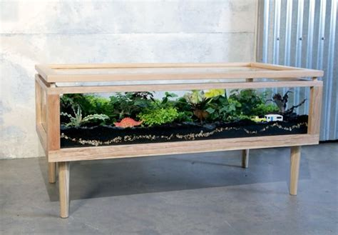 coffee table reptile terrarium 8 flourishing pieces of plant filled furniture