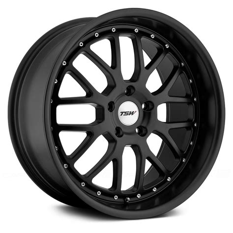 black wheels tsw 174 valencia wheels matte black rims