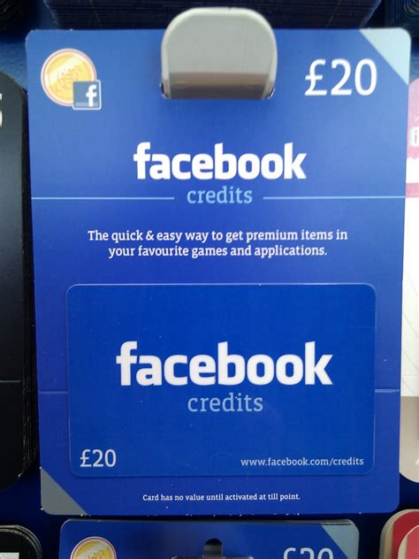 Gift Cards Facebook Credits - facebook credits gift cards now available at tesco