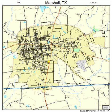 where is marshall texas on the map marshall texas map 4846776