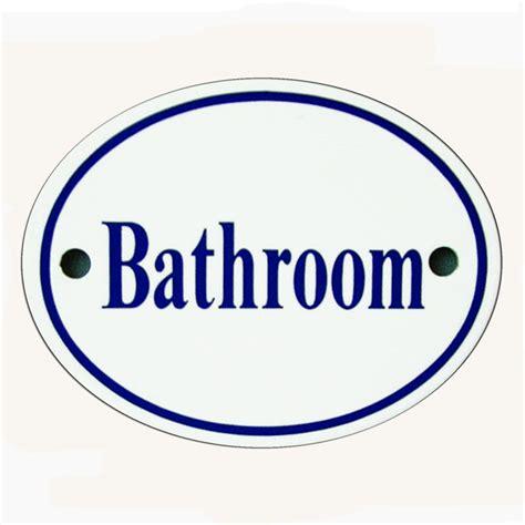 Bathroom Sign Blue Snobsknobs White Blue Enamel Bathroom Sign Snobsknobs