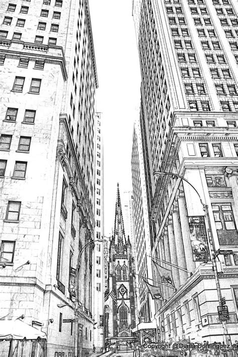 Sketches New And by Lower Manhattan Nyc Sketch 8x10 Drawing New York By Ddfoto