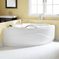 54 quot santorini corner acrylic tub