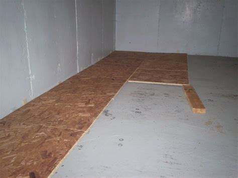 sub floor my basement finishing project