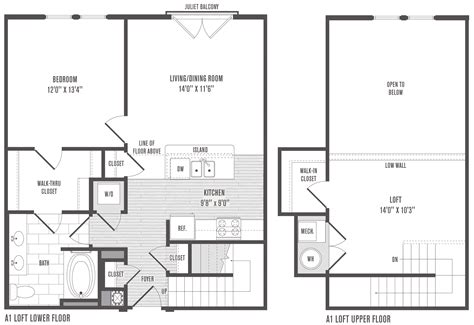 loft apartment floor plans 1 2 and 3 bedroom floor plans pricing jefferson