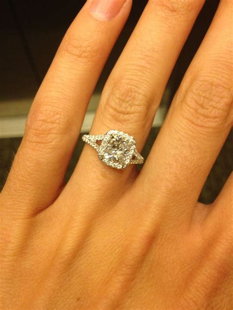 Best 25+ Cushion cut halo ideas on Pinterest | Square ... 1 Carat Cushion Cut Halo Engagement Ring