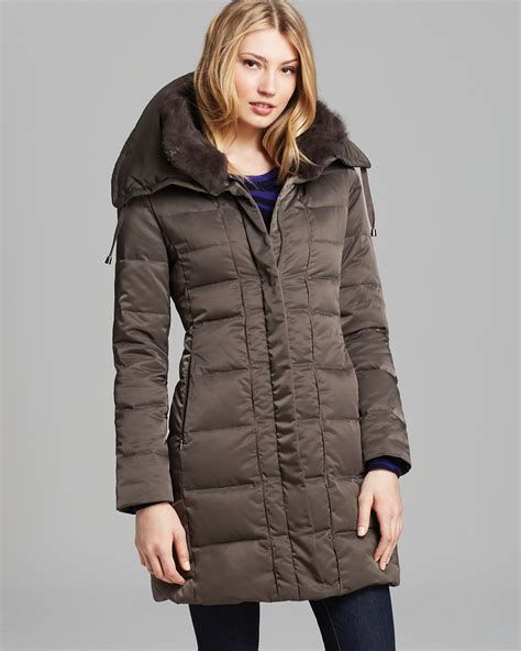 Wool Duvets Sale Elie Tahari Down Coat With Fur Collar Bloomingdale S