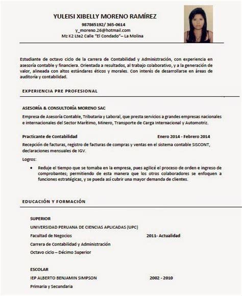 Modelo De Curriculum Vitae No Documentado Peru Personal Liderazgo Y Desarrollo Profesional Curriculum Vitae Cv