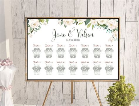 wedding seating chart template 34 exles in pdf word