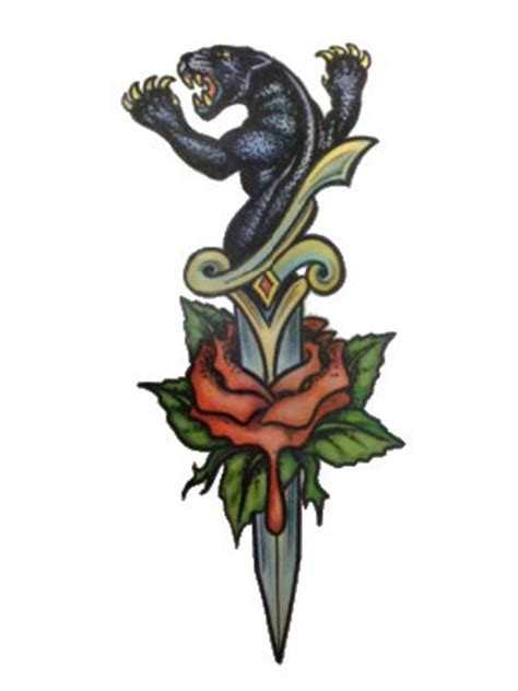 tattoo london clapham tattoo panther sword rose party superstores