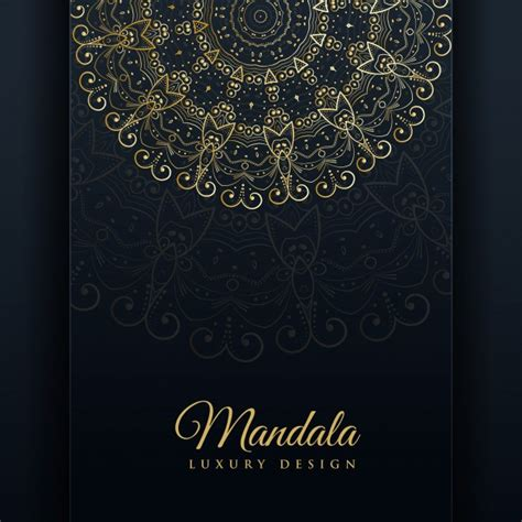 luxury ornamental mandala design background in golden